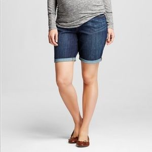 Maternity Denim Bermuda Shorts Large